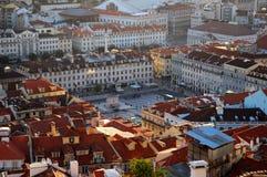 Gebouwen in Lissabon Portugal   stock afbeeldingen
