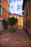 Gebouwen in Lugano stock afbeelding