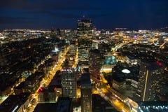 Gebouwen in nachtscène van Boston Royalty-vrije Stock Fotografie