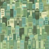 Gebouwen op de Achtergrond van het Stadspatroon stock illustratie