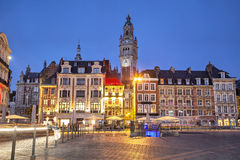 Gebouwen op Grand Place in Lille stock fotografie