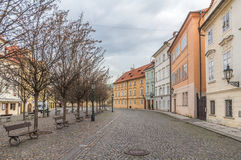 Gebouwen op kampaeiland in Praag Stock Foto's