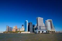 Gebouwen op Manhattan Stock Afbeeldingen