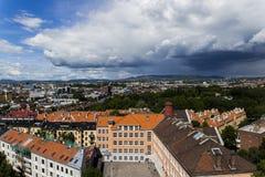 Gebouwen in Oslo van de binnenstad 4 stock afbeelding