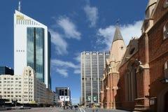 Gebouwen oud en nieuw in Perth Australië Royalty-vrije Stock Foto