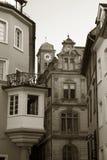 Gebouwen in oude stad Stock Fotografie