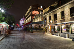 Gebouwen in Oude Stad Montreal Stock Afbeelding