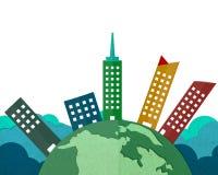 Gebouwen rond de Wereld Stock Foto