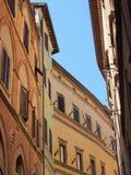 Gebouwen in Sienna Old Town, Italië stock afbeelding