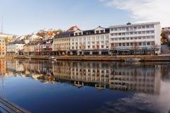 Gebouwen in tbay Stuifmeel, Noorwegen Stock Afbeeldingen