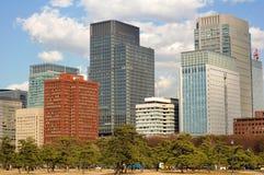 Gebouwen in Tokyo royalty-vrije stock afbeelding