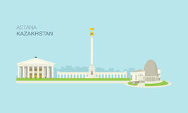 Gebouwen 4 van de Astanastad royalty-vrije illustratie