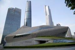 Gebouwen van de groeps de verschillende stijl in Guangzhou China Royalty-vrije Stock Foto's