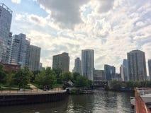Gebouwen van de stad van Chicago Stock Fotografie