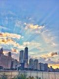 Gebouwen van de stad van Chicago Royalty-vrije Stock Afbeeldingen