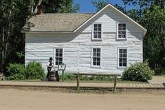 Gebouwen van de straat van 1905 van Fort Edmonton Royalty-vrije Stock Foto's