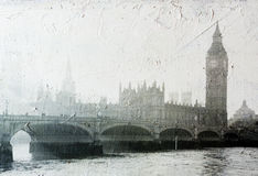 Gebouwen van het Parlement in Londen het UK Royalty-vrije Stock Afbeeldingen