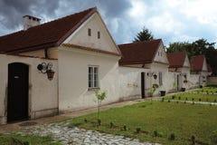 Gebouwen van klooster Camaldolian in Wigry Stock Afbeelding