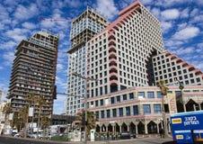 Gebouwen van moderne hotels op Tel Aviv stock afbeelding