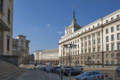 Gebouwen van Vroeger Communistisch Partijhuis in Sofia, Bulgarije royalty-vrije stock foto's