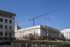 Gebouwen van Vroeger Communistisch Partijhuis in Sofia, Bulgarije royalty-vrije stock afbeelding