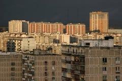Gebouwen van woondistrict in Moskou Stock Foto's