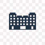 Gebouwen vectordiepictogram op transparante achtergrond, Buildi wordt geïsoleerd vector illustratie