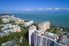 Gebouwen in Zeer belangrijke Biscayne Florida Stock Foto's