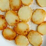 Gebraden aardappels Stock Afbeeldingen