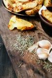 Gebraden aardappels Stock Foto