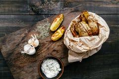 Gebraden aardappels Royalty-vrije Stock Foto