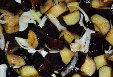 Gebraden aubergine Stock Foto's
