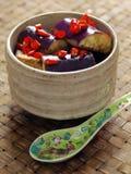 Gebraden aubergine met Spaanse pepers Stock Foto