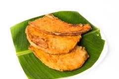Gebraden bataten of keledek goreng, een populaire snack in Maleisië, Indonesië en Thailand Stock Afbeelding