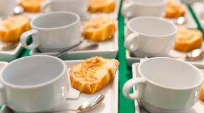 Gebraden Brood met droog verscheurd varkensvlees Thais dessert Royalty-vrije Stock Afbeelding