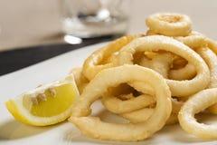 Gebraden calamari Royalty-vrije Stock Afbeeldingen