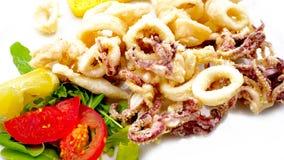 Gebraden calamari Italiaans Voedsel stock afbeelding