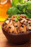 Gebraden champignon Royalty-vrije Stock Foto
