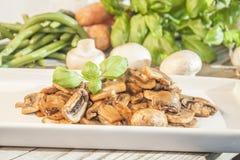 Gebraden champignon Royalty-vrije Stock Afbeeldingen