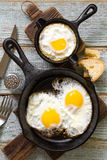 Gebraden eieren Royalty-vrije Stock Foto