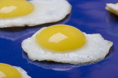 Gebraden eieren Stock Fotografie