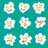 Gebraden eieren emoticon Royalty-vrije Stock Afbeelding