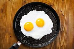 Gebraden eieren op een pan Royalty-vrije Stock Fotografie