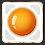 Gebraden eierenpictogram Royalty-vrije Stock Afbeeldingen