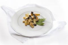Gebraden aubergines Stock Fotografie