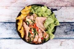 Gebraden gemengde groente met het varkensvlees van Korea Stock Fotografie