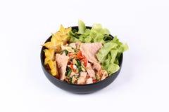 Gebraden gemengde groente met het varkensvlees van Korea Stock Foto