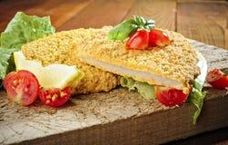 Gebraden gepaneerd Kalfsvlees Milanese Stock Afbeelding