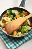 Gebraden groenten Royalty-vrije Stock Foto's