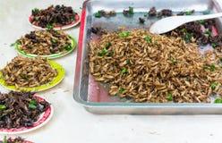 Gebraden insecten stock foto's